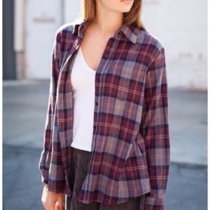 Brandy Melville Maroon/Grey Flannel